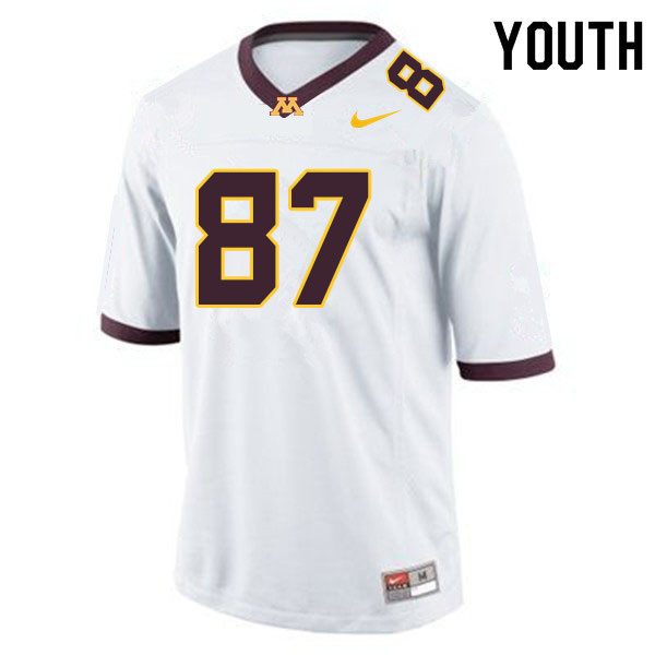 Youth #87 Nick Kallerup Minnesota Golden Gophers College Football Jerseys Sale-White